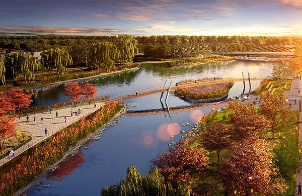 山东烟台开发区黄金河河滨公园景观规划设计